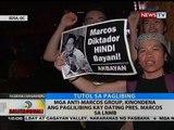 BT: Mga anti-Marcos group, kinondena ang paglilibing kay dating Pres. Marcos sa LNMB