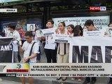 BT: Kabi-kabilang protesta, isinagawa kasunod ng palilibing kay dating Pres. Marcos sa LNMB