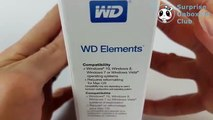 Western Digital WD Elements portable 2.5 inch 2TB unboxing Hard Drive