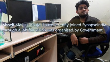 SynapseIndia current opening benefit to a fresher hired from a UP Government job fair