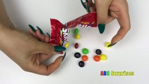 Learn to Count with Candy Skittles M&M Snickers Butterfinger Shopkins Egg Surprise Toys learn colors- 01