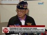 Paghimlay kay Marcos sa LNMB, insulto sa mga beterano, ayon kay FVR