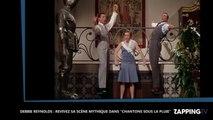 """Mort de Debbie Reynolds : Revivez sa scène mythique dans le film """"Chantons sous la pluie"""" (Vidéo)"""