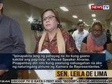 BT: Sen. Leila De Lima, tinawag na 'serial liar' ni House Speaker Pantaleon Alvarez