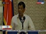 BT: Pres. Duterte, nagbanta laban sa mga sangkot sa droga