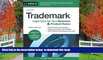 EBOOK ONLINE Trademark: Legal Care for Your Business   Product Name Stephen Fishman J.D. BOOK ONLINE