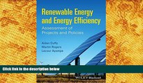 PDF  Renewable Energy and Energy Efficiency: Assessment of Projects and Policies Aidan Duffy Full