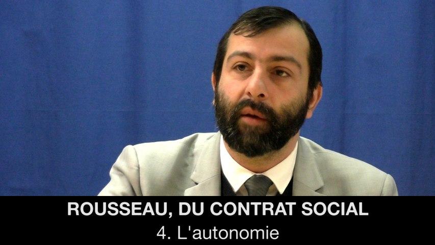 IV. ROUSSEAU, Du contrat social - L'autonomie, Gaëtan DEMULIER