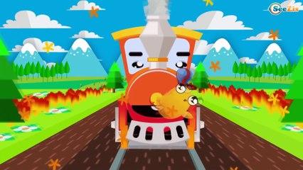 Dessin animé éducatif français - Le Train - Dessin animé pour les bébés - La voiture pour enfants