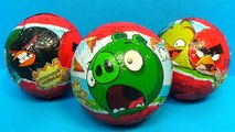 Surprise eggs ANGRY BIRDS! Unboxing 3 eggs surprise Angry Birds with toys! Surprise Collection