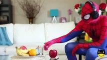 Frozen Elsa & Spiderman DISAPPEAR Joker Feet Pink Spidergirl gross tongue Elsa Funny Superheroes