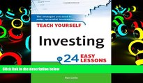 PDF [DOWNLOAD] Teach Yourself Investing in 24 Easy Lessons, 2E [DOWNLOAD] ONLINE
