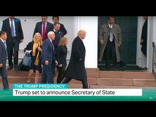 The Trump Presidency: Trump set to announce Secretary of State