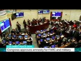 Colombia peace deal: Congress approves amnesty for FARC and military
