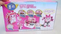 로보카폴리 엠버 변신 기지세트 구급차 병원놀이 와 뽀로로 타요 장난감 Robocar Poli Amber Ambulance Doctor Kit Toy YouTube