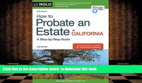 Audiobook  How to Probate an Estate in California Julia Nissley For Kindle