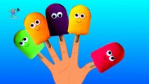 The Finger Family Song with Ice Cream ( Red, Yellow, Blue, Orange, Green Colors) for Children Kids