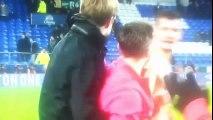 Jurgen klopp celebration with Liverpool fans 1 0 vs Everton ☺