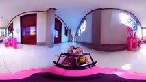 360 Video - BARBIE and KEN Dolls Beach Cruiser Vehicle Tour to Dollhouses-OgFEP22T