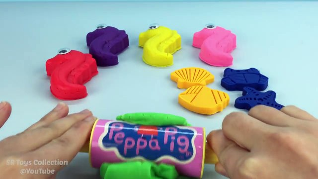 Play Doh Seahorses with Sea Animals Cookie Cutters Fun and Creative for Kids