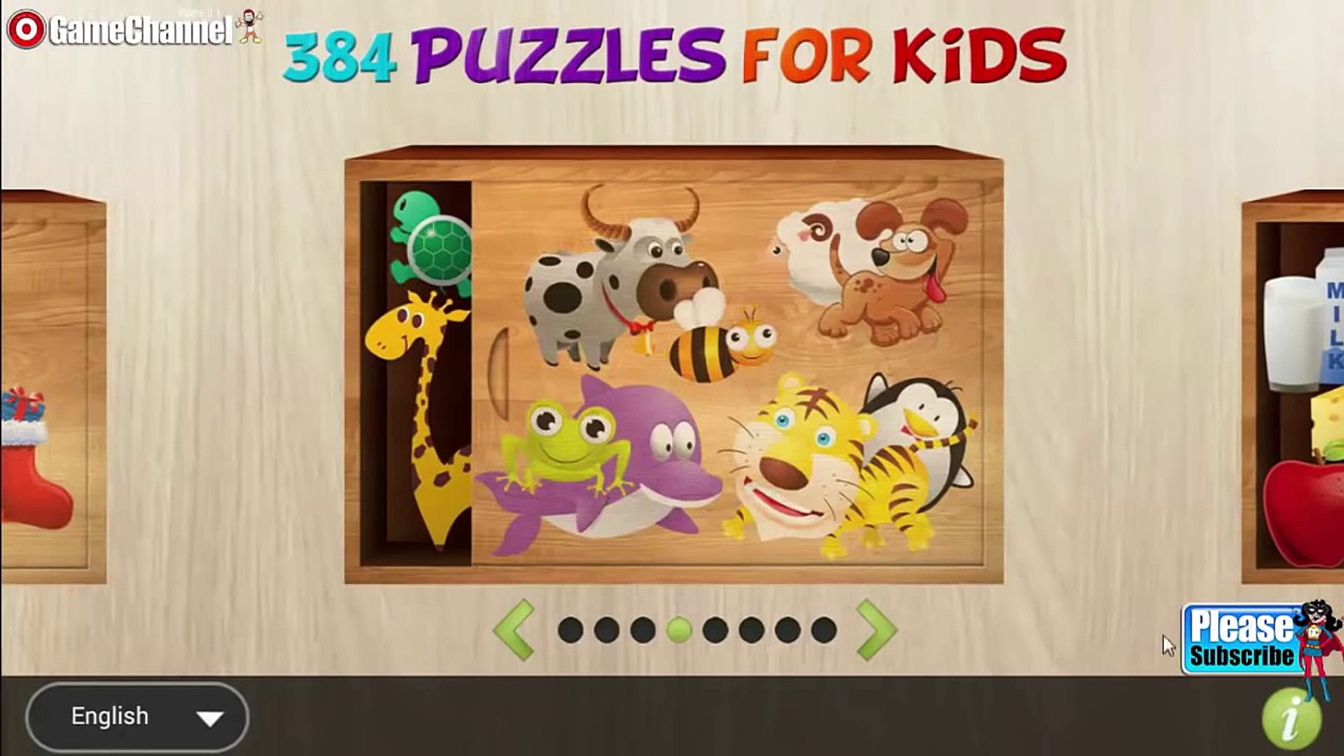 384 Puzzles for Preschool Kids 'Puzzle Education Games' Android Video