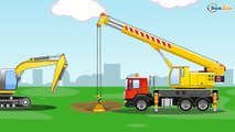 The Yellow Diggers and The Bulldozer - Diggers Cartoons - World of Cars for children
