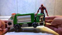 The Amazing Spider-Man with Lego Garbage Truck! skraldebil,camion à ordures,jäteauto