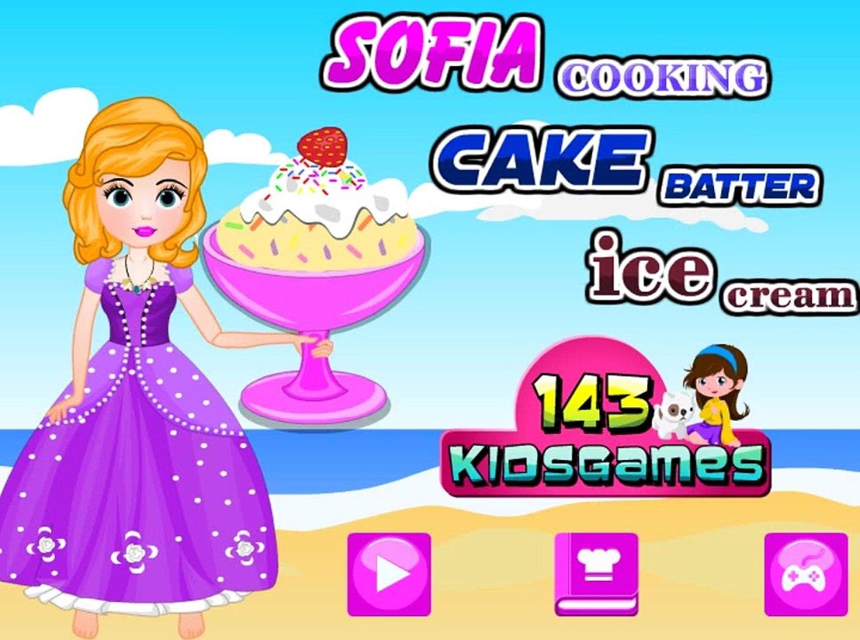 София готовит торт! Игра для девочек про приготовление еды! Детские мультики!