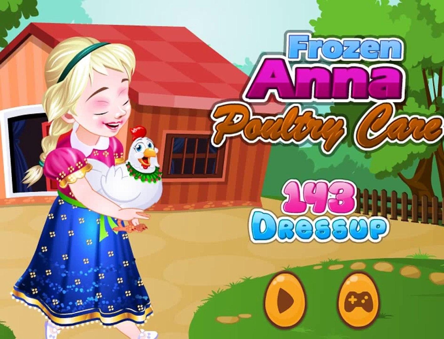 Анна ухаживает за курочкой на ферме! Игра для девочек! Детские игры!