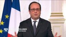 """Hollande aux Français: """"Face aux attaques, vous avez tenu bon. Vous pouvez être fiers de vous"""""""