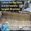 3D yazıcı ile büyük binalar yapmak artık çocuk oyuncağı.