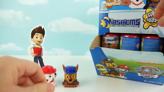 Paw Patrol Mashems Nickelodeon Squishy Mashem Surprise Egg Toys! Marshall Rubble Rocky Chase Skye