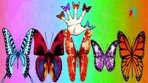 Butterfly Finger Family Rhymes for Children ,  Dady Finger Butterfly Song ,  Color Butterfly Rhyme