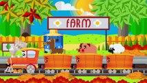 Le train - Les fruits - Les animaux | Apprendre avec un train en anglais| La voiture pour enfants