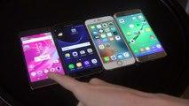 iPhone 6S iOS 10 Beta 7 vs. Samsung Galaxy S7 vs. Sony Xperia X vs. Galaxy S6 - Benchmark Test!