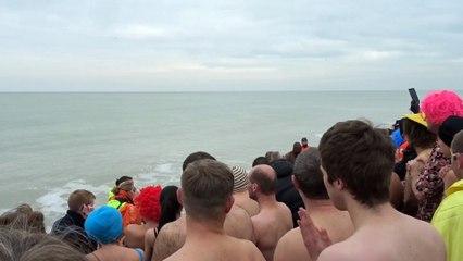 Mers-les-Bains: premier bain de l'An