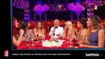 Camille Cerf dévoile sa poitrine dans une robe transparente (vidéo)