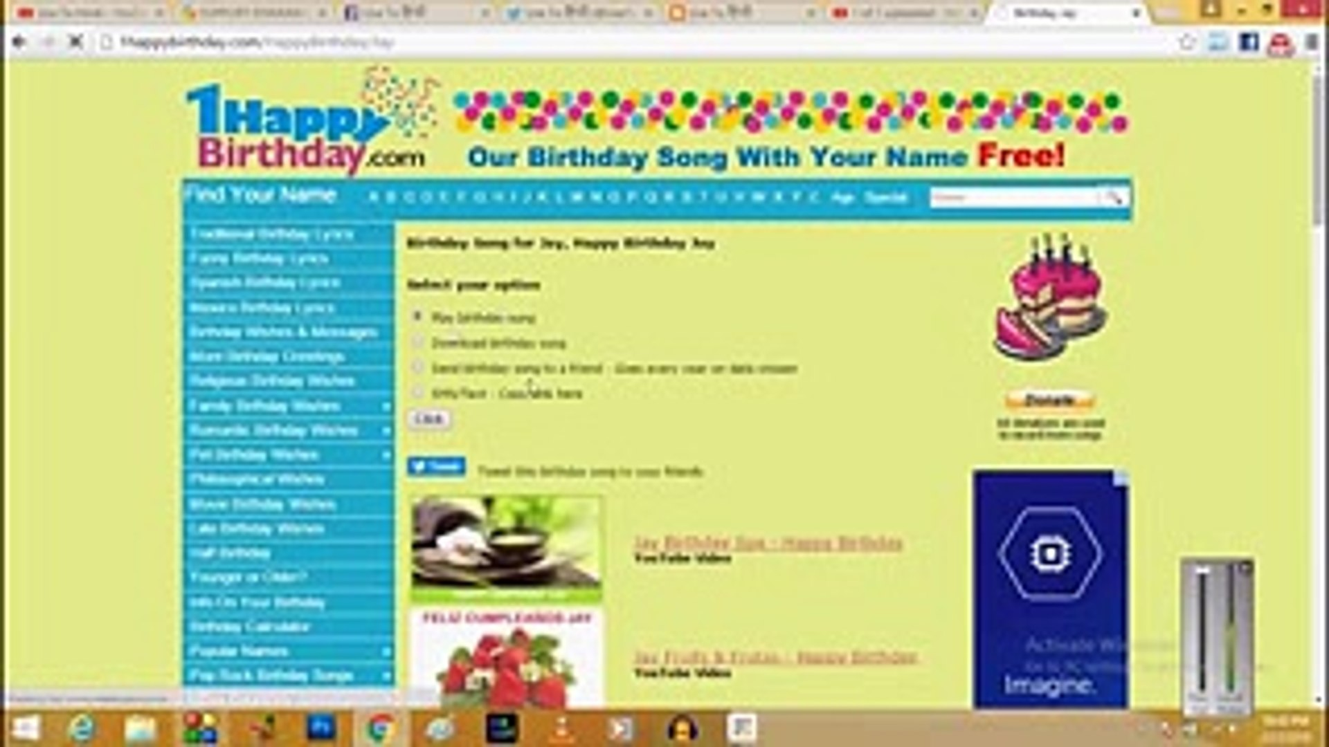 __Hindi__ How To Wish Happy Birthday With Their Name In Song For FREE! Full  HD