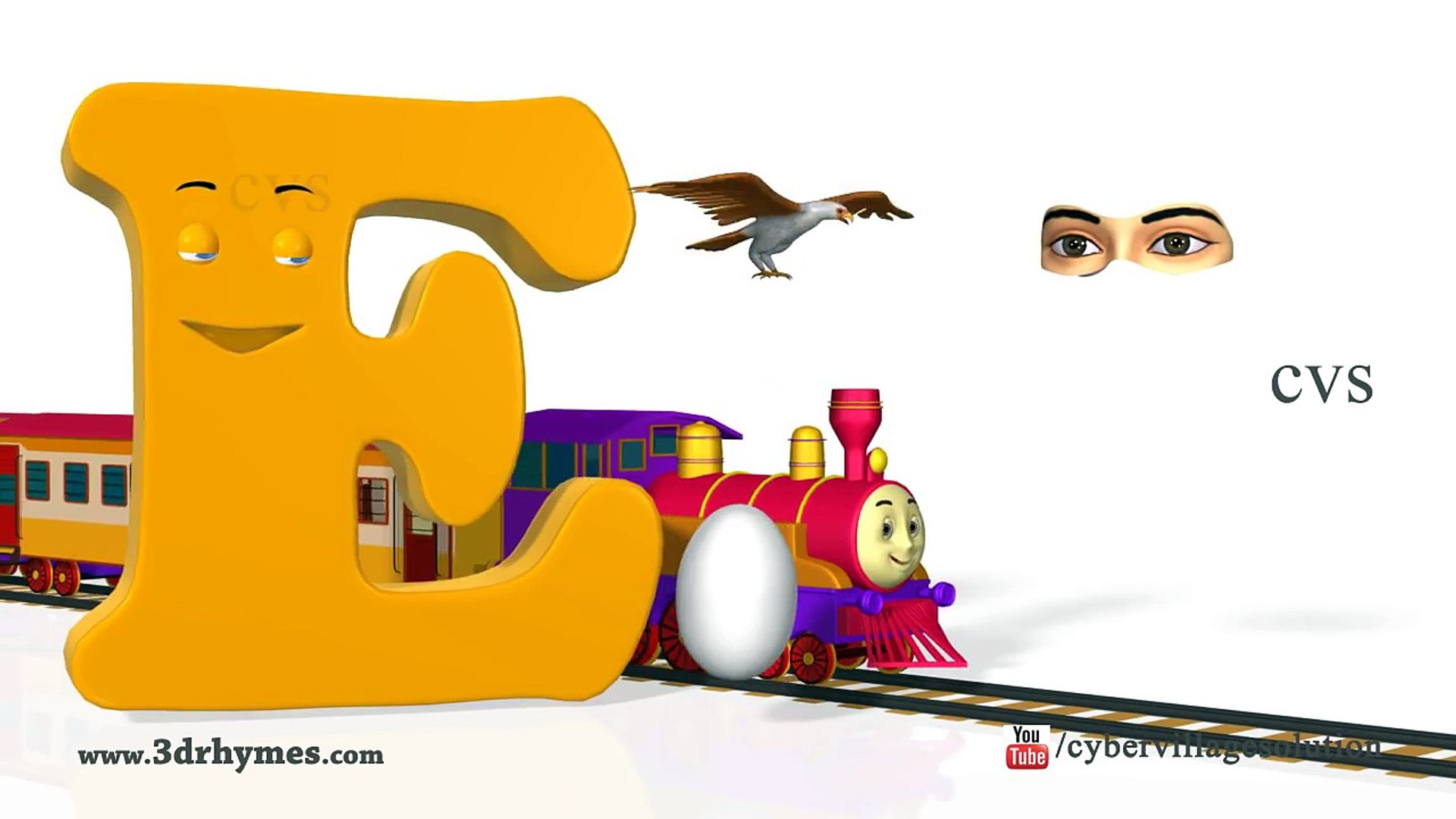 Phonics Song 4 3D Animation Nursery rhymes Phonics songs ABC songs for children