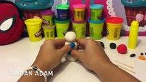 Oyun Hamurundan Kardan Adam Yapıyoruz   Eğlenceli Çocuk Videoları