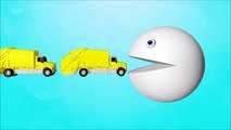 Learn Colors with Pacman for Kids and Toddlers - Trucks Compilation - Funny Vide