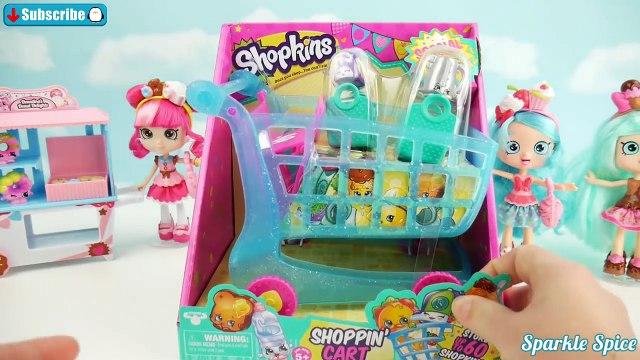 Frozen Kids Shopkins Playset Opening Shopping Cart & Shopkins Collection wih Olaf Donatina Shoppies
