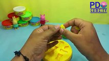 Peppa Pig Play Doh!Learn Colors with Play Doh Prints Animal whales and fruit for Kids Fun & Creative