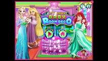 Baby girl room decor ideas. #Princesses Elsa Ariel Rapunzel #BabyRoom Decor game for girls
