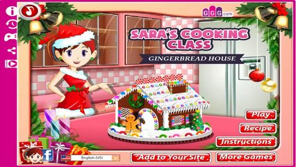 Saras Cooking Class Gingerbread House Sara Cooking Game To Play Totalkidsonline Dailymotion Video