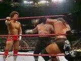 WWE Raw Triple H VS Umaga VS Carlito