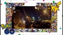 POKEMON GO Driver playing Pokemon Go crashes into police car