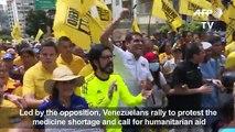 Led by the opposition, Venezuelans protest medicine shortages