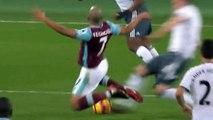Sofiane Feghouli red card - West Ham 0-0 Manchester United 02-01-2016 (HD)