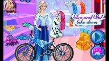Disney Frozen Elsa and Olaf bike decor - Frozen games